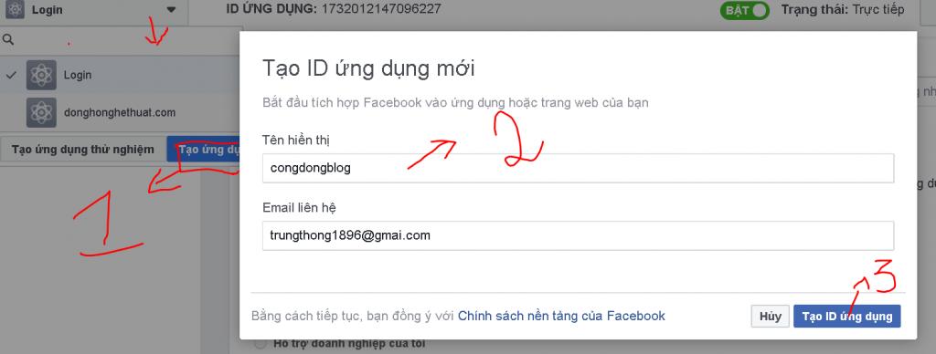 Hướng Dẫn Tạo Your-app-id Facebook
