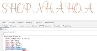 Cách Cài Font Ngoài Vào Website
