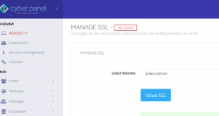 cách cài SSL bằng cyber panel miễn phí mà không bị lỗi