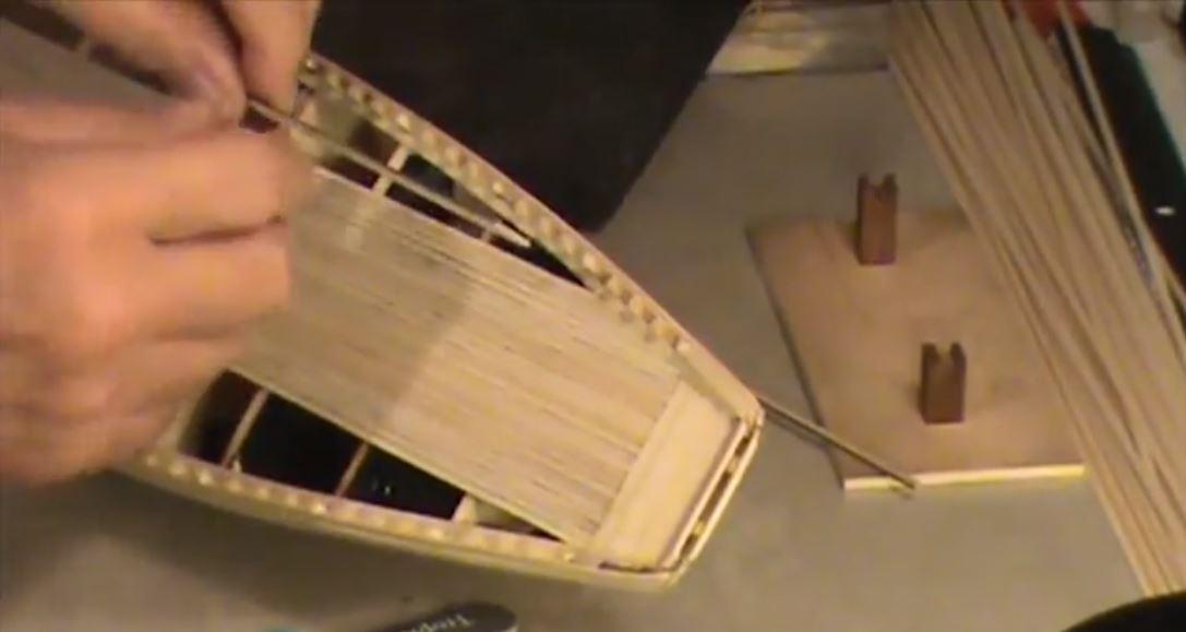 hướng dẫn cách làm khung thuyền mô hình thuyền buồm gỗ