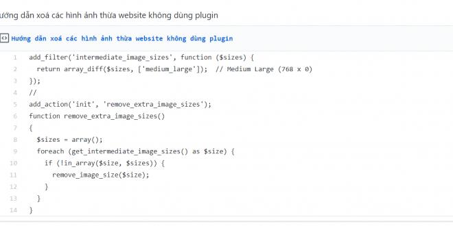 Hướng dẫn xoá các hình ảnh thừa website không dùng plugin