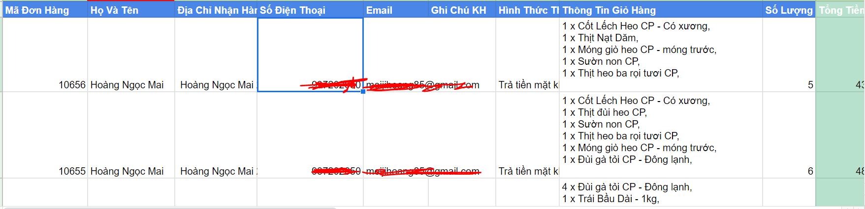 Đồng Bộ Đơn Hàng Woocommerce lên google sheet qua API